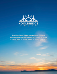 Koolbridge Solar, Inc. Brochure February 2016)